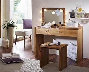 Frisiertisch Mit Spiegel : massivholz schminktisch eiche buche ge lt kosmetiktisch mit spiegel frisiertisch ~ Eleganceandgraceweddings.com Haus und Dekorationen
