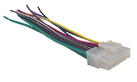 dual car audio wiring harness stereo 12 wire connector