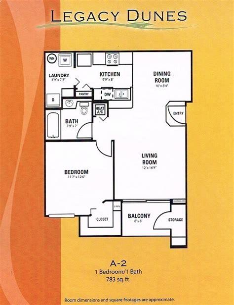 2 bedroom 1 bath legacy dunes resort floor plans 13924 | A 2 1 Bedroom 1 Bath 5001
