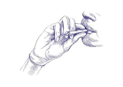 Sticker Fumer De La Marijuana Commune  Dessin à La Main