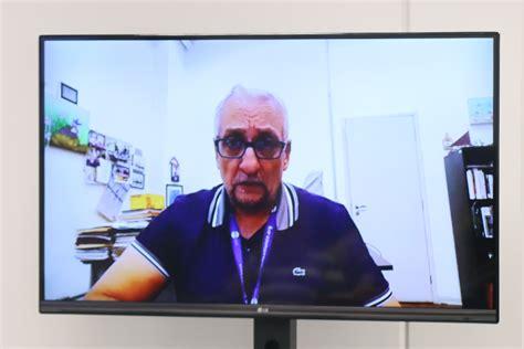 Paulo Saldiva fala durante a abertura do evento (via Skype)