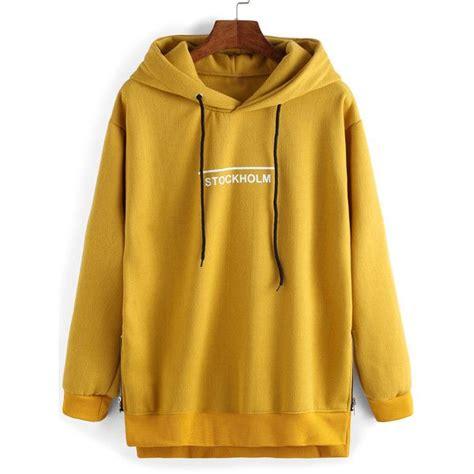 yellow hoodie sweatshirt breeze clothing