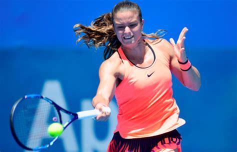 maria sakkari reaches    australian open   set win  alize cornet