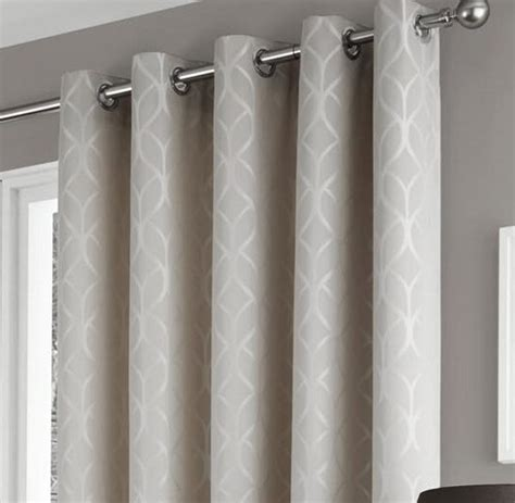 Geometric Pattern Curtains Uk by Harlow Taupe Geometric Pattern Thermal Lined Eyelet Top