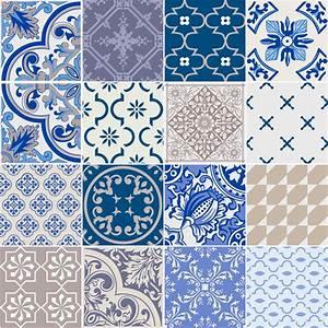 Art Et Carrelage : 16 stickers carrelages azulejos ornements traditionnels ~ Melissatoandfro.com Idées de Décoration