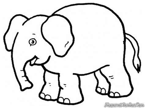 Coloring Gajah by Mewarnai Gambar Gajah Mewarnai Gambar