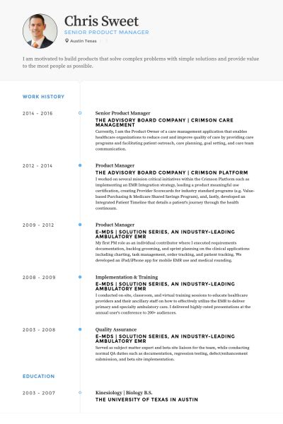 Senior Product Manager Resume Samples  Visualcv Resume. Name Badge Design Template. Grant Tracking Spreadsheet Template. Public Service Announcement Examples Template. Letters Of Reference For A Teacher Template. Flow Process Chart Template. Budget Template Free. Job Recommendation Letter Template. What Is An Affinity Diagram Template