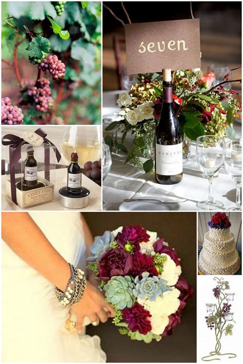 wine wedding theme ideas