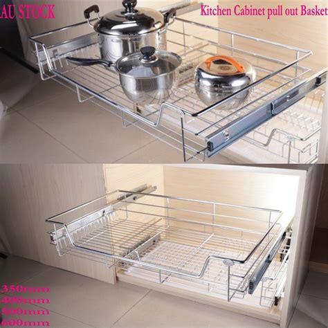 sliding basket drawers 1pc kitchen pantry pull out sliding metal basket drawer