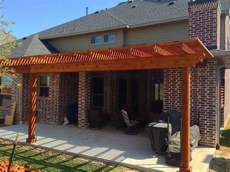 back patio arbor in frisco hundt patio covers and