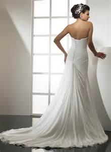 chiffon wedding gown strapless sweetheart a line chiffon wedding dress ipunya
