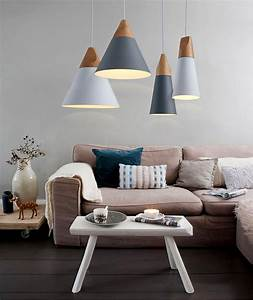 Modern wood led ceiling pendant light place