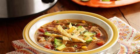 cooker chicken tortilla soup slow cooker chicken tortilla soup ready set eat