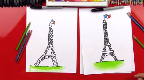 draw  eiffel tower art  kids hub