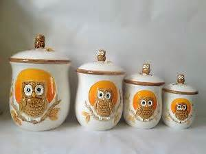 owl canisters for the kitchen 20 best images about owl kitchen on owl kitchen decor vintage owl and canister sets