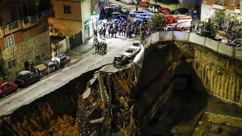 huge rome sinkhole prompts evacuations cnn
