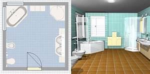Dessiner Sa Salle De Bain : salle de bain en 3d les logiciels en ligne et leur ~ Dallasstarsshop.com Idées de Décoration