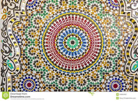 oriental mosaic  morocco stock photography image