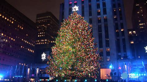 when is the christmas tree lighting nyc rockefeller center christmas tree lights up new york