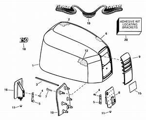 Evinrude Engine Cover Parts For 2000 150hp E150fcxssv