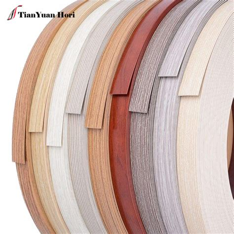 laminated wood grain plastic desk edging decorative door mdf edge band tape  mm kitchen