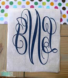 how to create a simple vinyl monogram silhouette tutorial With create vinyl letters monograms without a machine