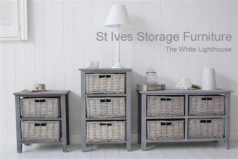st ives grey  drawer  basket storage furniture