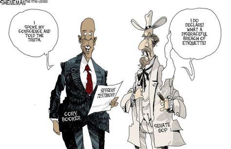 cory bookers bad manners sheneman cartoon njcom