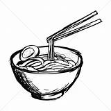 Noodles Bowl Noodle Drawing Soup Coloring Pages Vector Colouring Getdrawings Again Bar Looking sketch template