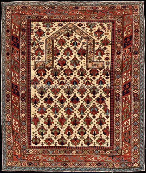 Prayer Rug by Shirvan Prayer Rug With Flower Field Caucasian Shirvan Rug