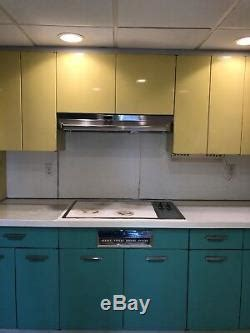 vintage retro mid century  metal kitchen cabinets