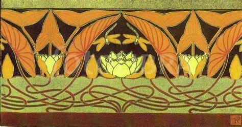 French Art Nouveau Floral Border Design