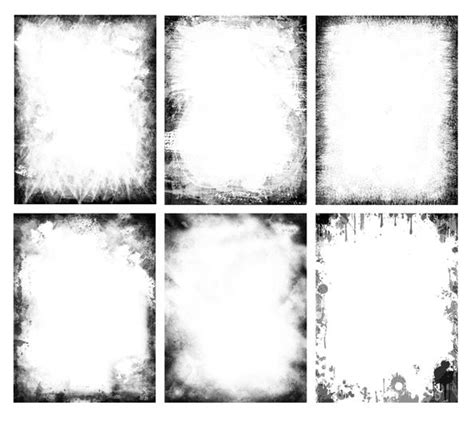 free grunge frames pack useful for various projects like creating style posters western