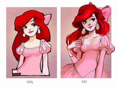 Ariel Loish Mermaid Disney Pink Fan Deviantart
