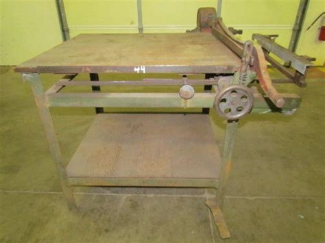 large vintage  guillotine paper cutter  cut gage
