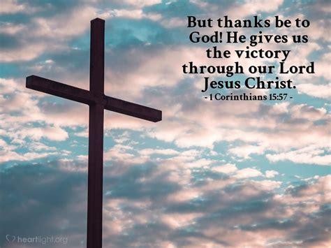 1 Corinthians 1557 — Todays Verse For Sunday April 21 2013