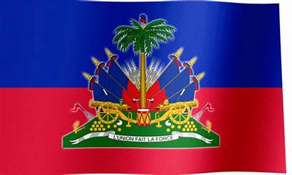 Flag Haiti Arms Coat Waving Flags Country