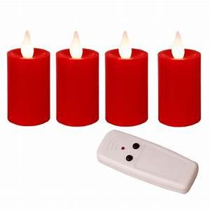 Led Kerzen Für Aussen Mit Fernbedienung : 4er set led kerzen mit fernbedienung batterien flackernde flammenlose wachs ~ Orissabook.com Haus und Dekorationen