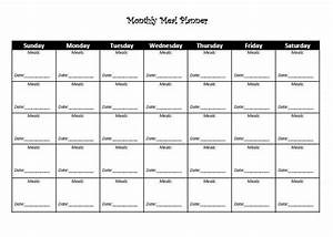 monthly dinner calendar template - 8 best images of monthly meal planner printable