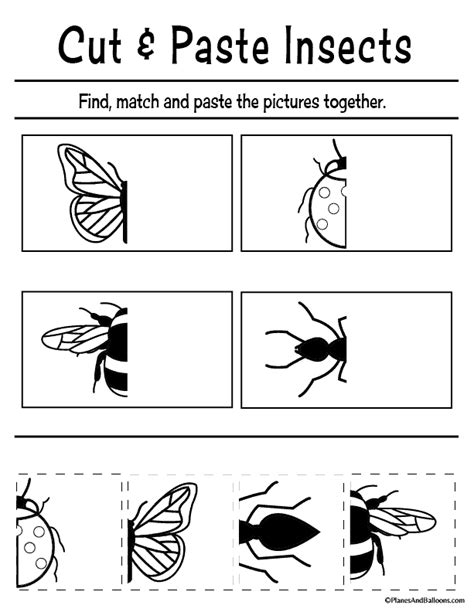 free printable cut and paste worksheets for preschool