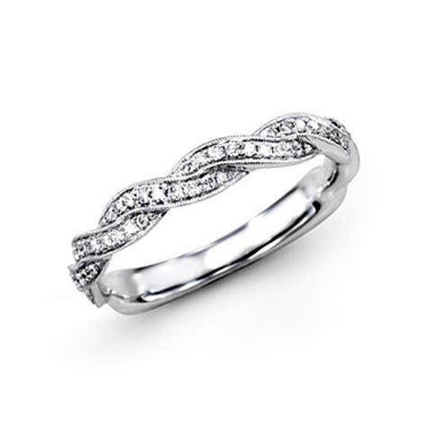 simon  platinum braided collection diamond wedding band