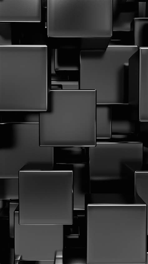 Abstract Black Wallpaper For Mobile by Shiny Black Squares Abstract Wallpaper Black Wallpapers