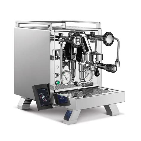 """Dual independently operated pid controlled boilers allowing for optimum extraction of any coffee type or roast style. Rocket R58 """"Cinquantotto"""" espresso coffee machine"""