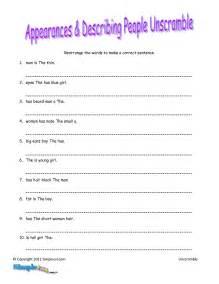 Free Unscramble Sentences Worksheets