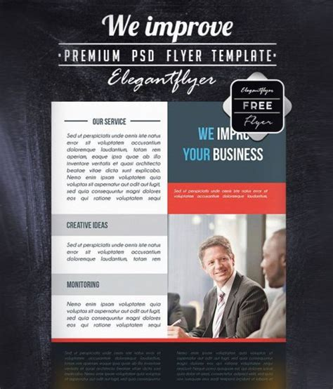 Free Multipurpose Brochure In Psd By Elegantflyer Business Flyer Brochure Templates In Psd 30 Best Designs