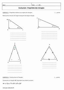 Propri U00e9t U00e9s Des Triangles - 5 U00e8me - Contr U00f4le