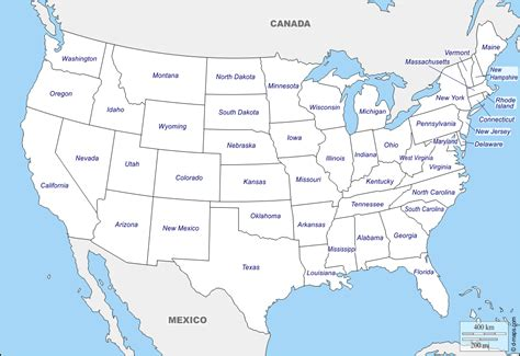 United States (USA) free map, free blank map, free outline ...