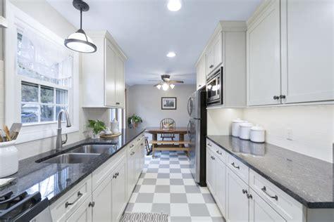 For A Galley Kitchen modern white galley kitchen rhode kitchen bath design
