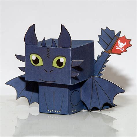 train  dragon toothless paper toy
