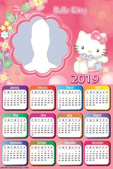 kitty toys calendar  frame photo montage